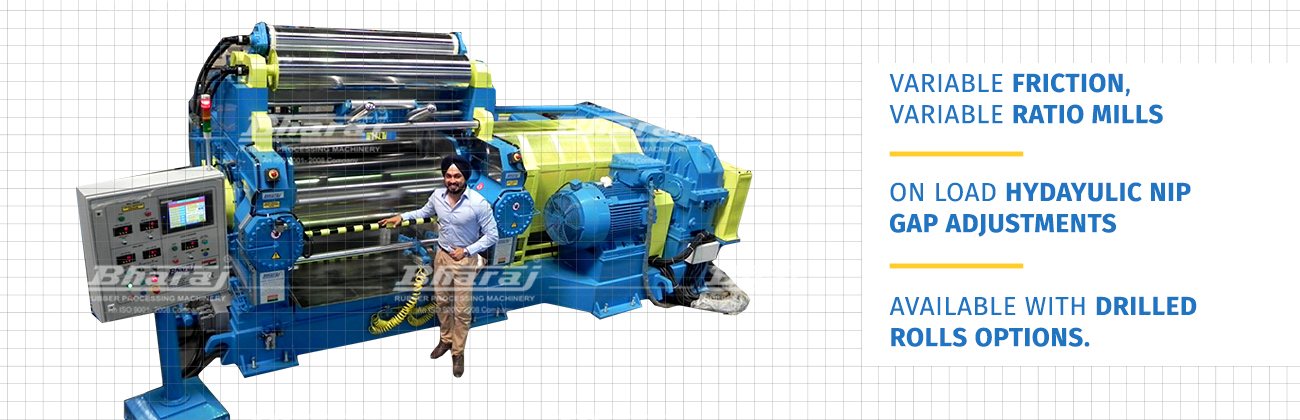 Bharaj Machinery: Heavy Duty Rubber Mixing Mill With Bearings : ASTM